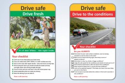 Road safety awareness_fatigue and drive to the conditions.