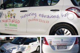 Design for Nurtured at Home vehicle graphics